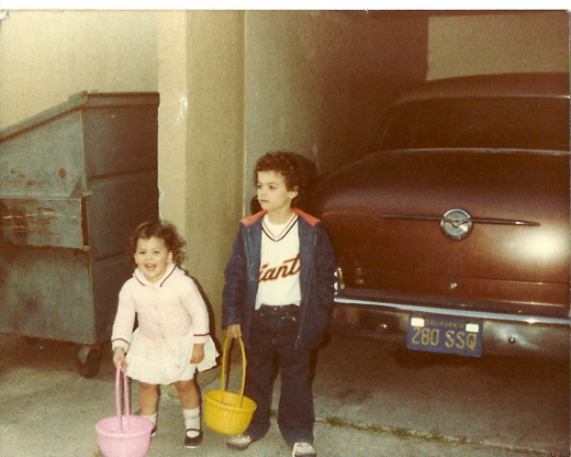 Me and my sister Shawntel. Wearing the Giants shirt proudly.