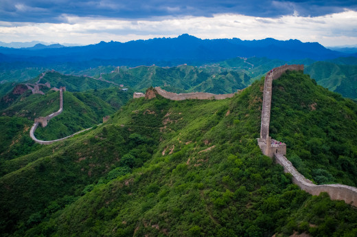 The Great Wall of China in JinShanLing