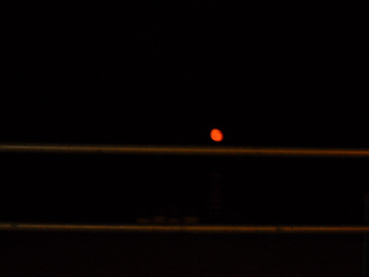 Blood moon at the beach in 2011