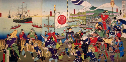 Japan's isolationism led to it falling behind Western countries