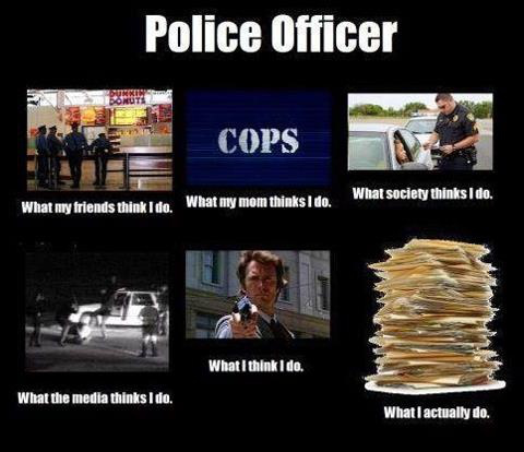 A throwback meme that still pertains to everyday cops that we'll still call when help is needed.
