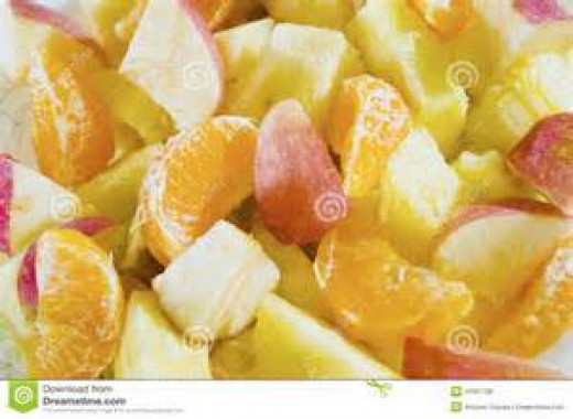 Combine fruit in large bowl.
