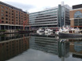 St Katharine Docks in London - aka St Catherine's Dock is a quiet place to visit near The Tower of London.