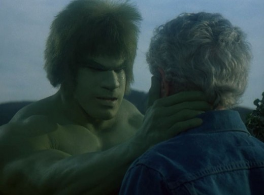 Lou Ferrigno gets a chance for some character development as The Hulk.