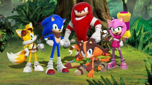 Sticks among her new friends in the upcoming Sonic Boom.