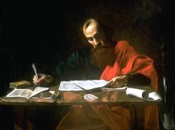 Saint Paul Writing His Epistles, Probably Valentin de Boulogne (1591-1632)