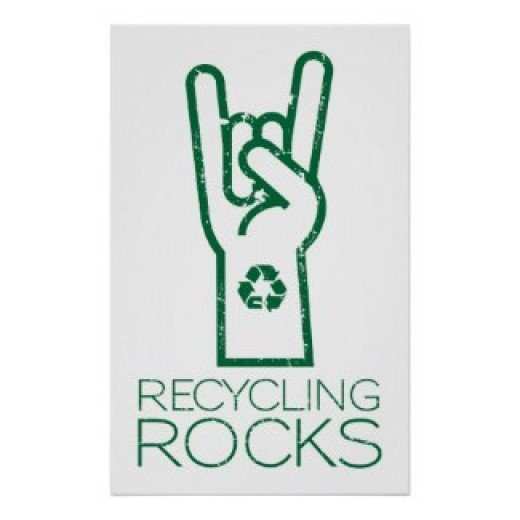 Recycling Rocks! Poster by The Spotted Olive on Zazzle