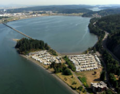 Aerial view of the RV resort