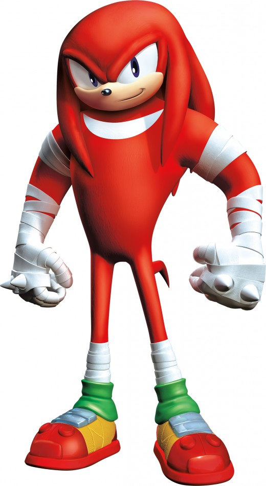 This is how Knuckles the Echidna in sonic Boom.