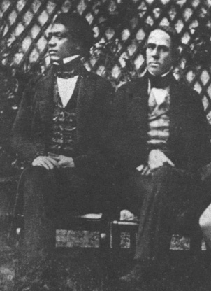 1843 Paris - Timothy Haʻalilio (1808–1844) (left) and William Richards (1793–1847) on the first diplomatic mission from the Kingdom of Hawaii to the USA and Europe to negotiate a treaty guaranteeing independence. Haʻalilio died on the return voyage.