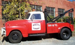 Wally's Truck at Mount Airy. I know it isn't real but it was such a thrill standing beside these treasures and pretending it all really was a true story!