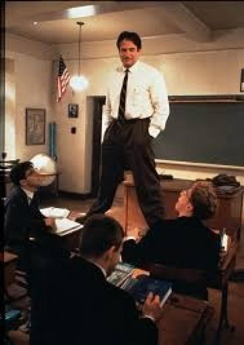 Robin Williams plays a teacher of a different mold in Dead Poets Society.