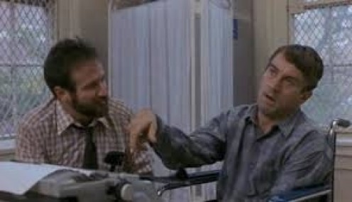 Robin Williams and Robert De Niro played Doctor and patient in the true story called Awakenings. These were amazing roles for both actors.