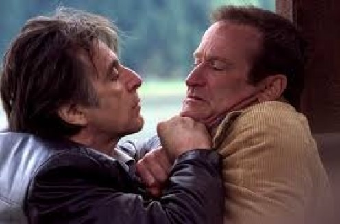 Al Pacino and Robin Will arms star together in the drama movie entitled Insomnia.