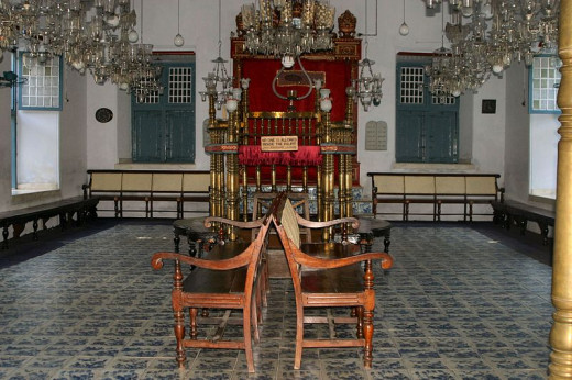 A Synagogue in Mattanchery. Kerala