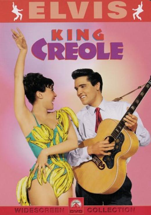 Elvis Presley and Carolyn Jones in the 1958 movie, King Creole.