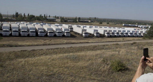The parked convoy
