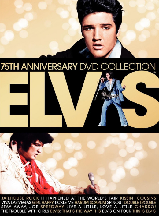 Elvis 75th Anniversary DVD Collection containing 17 of Elvis Presley's films.
