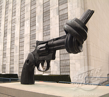 Sculpture outside the United Nations building