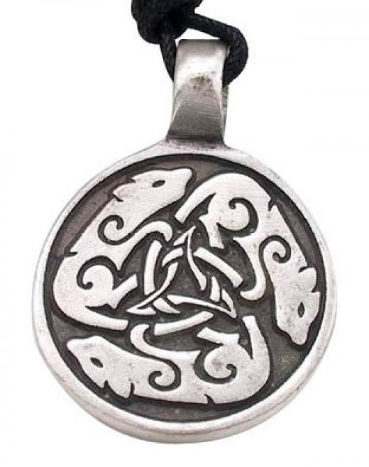 Celtic Wolf Dog  Medallion