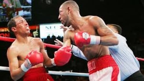 Diego Corrales came back from the brink to stop Jose Luis Castillo in the 10th round and win the lightweight world title.