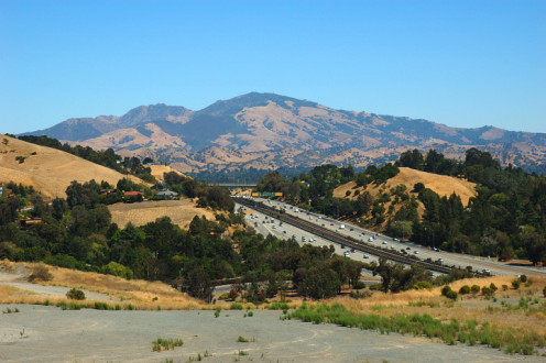 Mount Diablo and CA Highway 24 in Contra Costa County