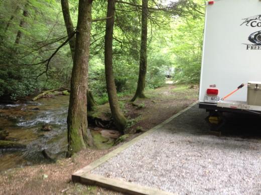 Perfect Campsite @ Rock Creek.