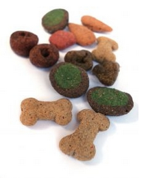 Many dogs vomit after eating a new food, but they may also get sick due to salmonella contamination which has occurred in recent years with tainted commercial pet foods.