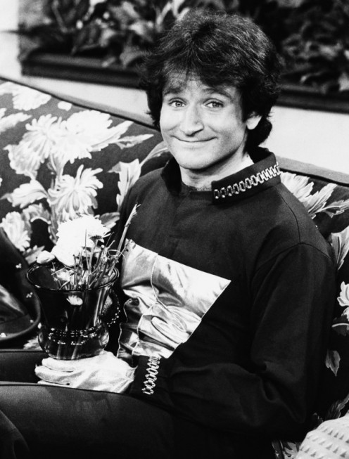 "On the set of ""Mork & Mindy"" in 1978"