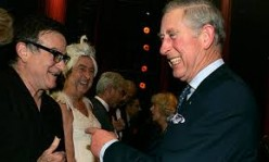 Who else other than Robin Williams could make Prince Charles laugh in a reception line?