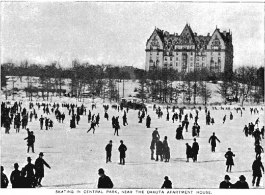 ICE SKATERS TWIRL AT CENTRAL PARK.