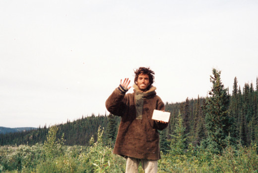 Christopher McCandless living out his idealistic dream in the Alaskan wilderness.