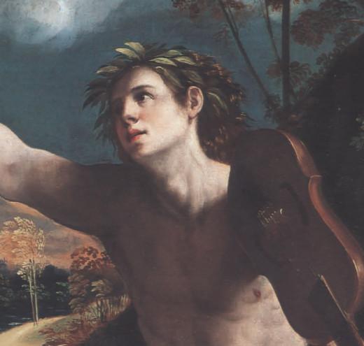 Dosso Dossi, Apollo (a. 1524), detail, Rome Galleria Borghese