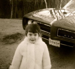 Dad's car. And me.