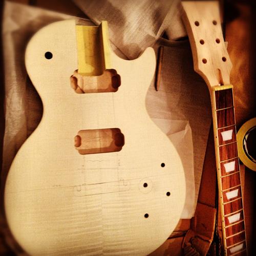 DIY Guitar Kit Les Paul Set Neck Guitar