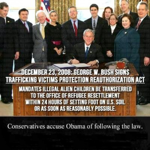 The law that Bush signed! I wonder if he is the one who sent the other countries an invitation to send us their children for us to support and raise them?