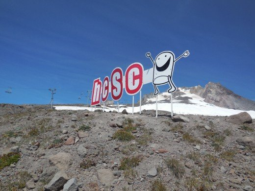 High Cascade Snowboard Park sign