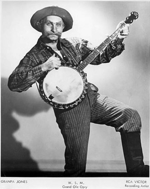 """Louis """"grandpa Jones"""" it is reaonable to believe that this phot qualifies for fair use to identify the performer."""