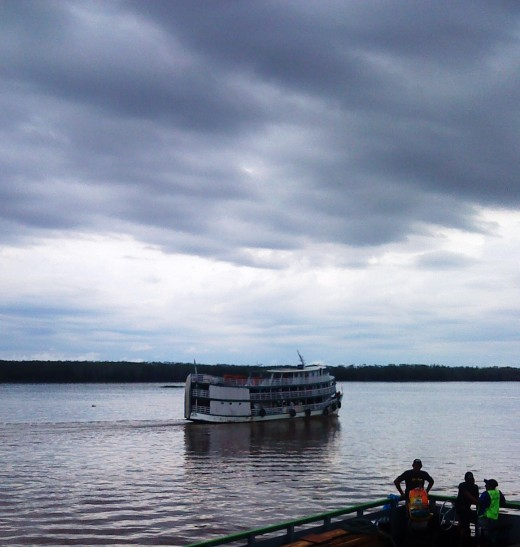 River boat sets sail for Tabatinga.