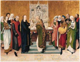 The Presentation in the Temple.  Candlemas: Meister des Marienlebens