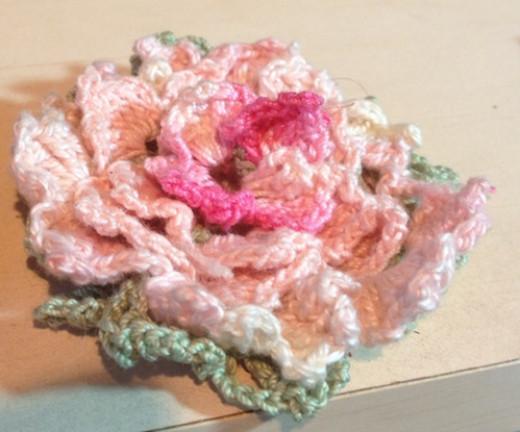My Backward Rose original crochet pattern