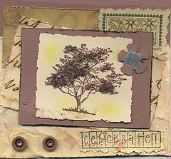 Stamped Tree Decorated with Flower Soft