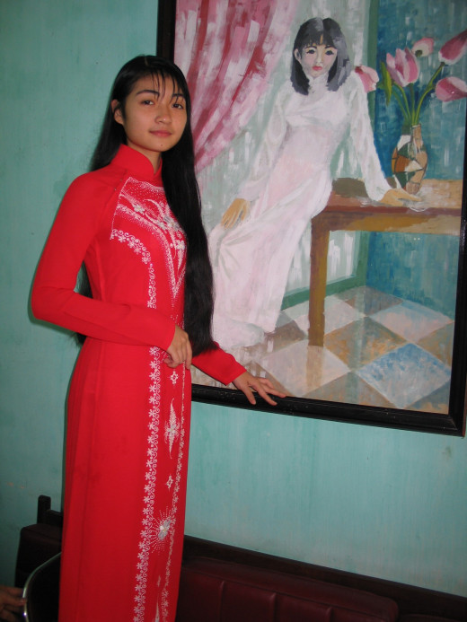 Example of a Red Qipao Dress