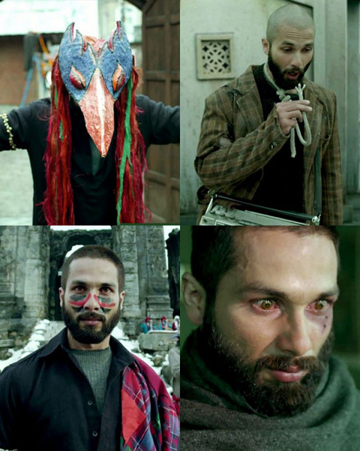 heck out Shahid Kapoor's amazing transformation from simple sober Rajiv Mathur (Ishq Vishq) to the unconventional raw Haider.