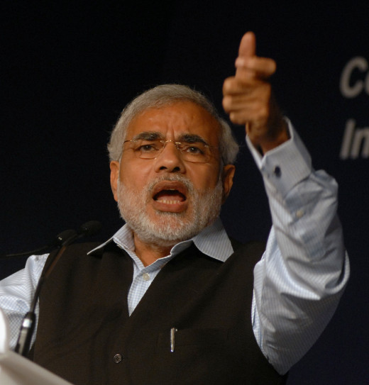 Image of Narendra Modi at the World Economic Forum in India-