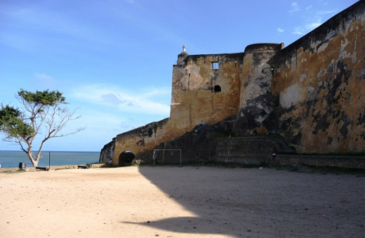 View of Fort Jesus facing the ocean