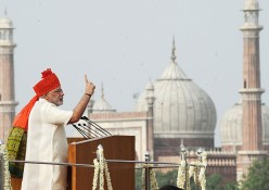 Modi Covers Head and Opens Heart