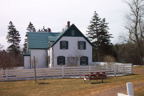 Green Gables House in Spring--not yet open but we were allowed inside and got to explore the rooms.