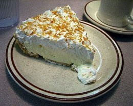 Coconut Custard Pie  Photo credit Wekipedia image