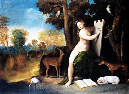 Dosso Dossi, Circe and Her Lovers in a Landscape (a. 1512), Washington National Gallery of Art
